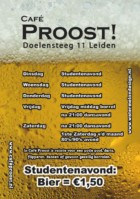 Flyer Weekindeling Café Proost